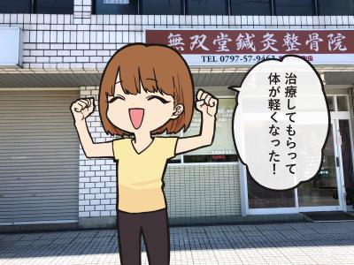 宝塚市の無双堂鍼灸整骨院の好転反応1